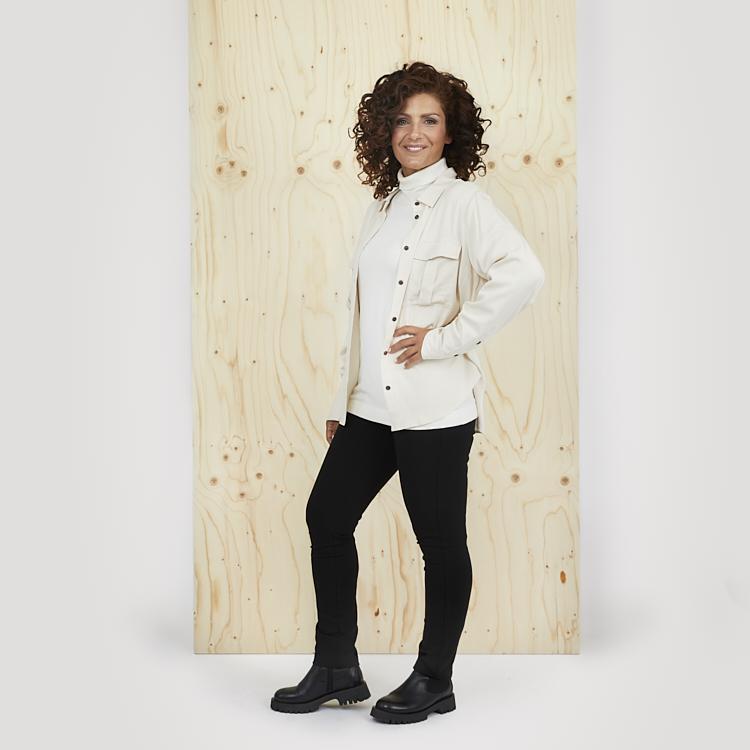 Polo och skjorta i ton-i-ton med leggings